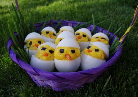 Cute and yum!: Eggs Httpbitlyhlpop3, Eggs Chick, Chick Eggs, Cuti Ideas, Gluten Free, Easter Eggs, Devil Eggs, Happy Easter, Eggs Httpbitlyhrsjoq