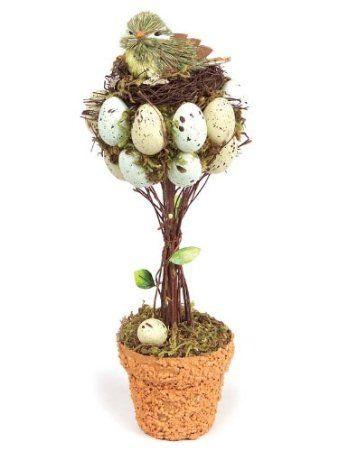 Egg/Bird Nest Spring Easter Topiary-Awww so cute!: