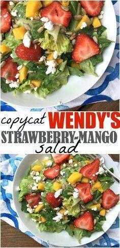 Copycat Wendys Mang Copycat Wendys Mango Strawberry Salad via...  Copycat Wendys Mang Copycat Wendys Mango Strawberry Salad via Make The Best of Everything Recipe : http://ift.tt/1hGiZgA And @ItsNutella  http://ift.tt/2v8iUYW