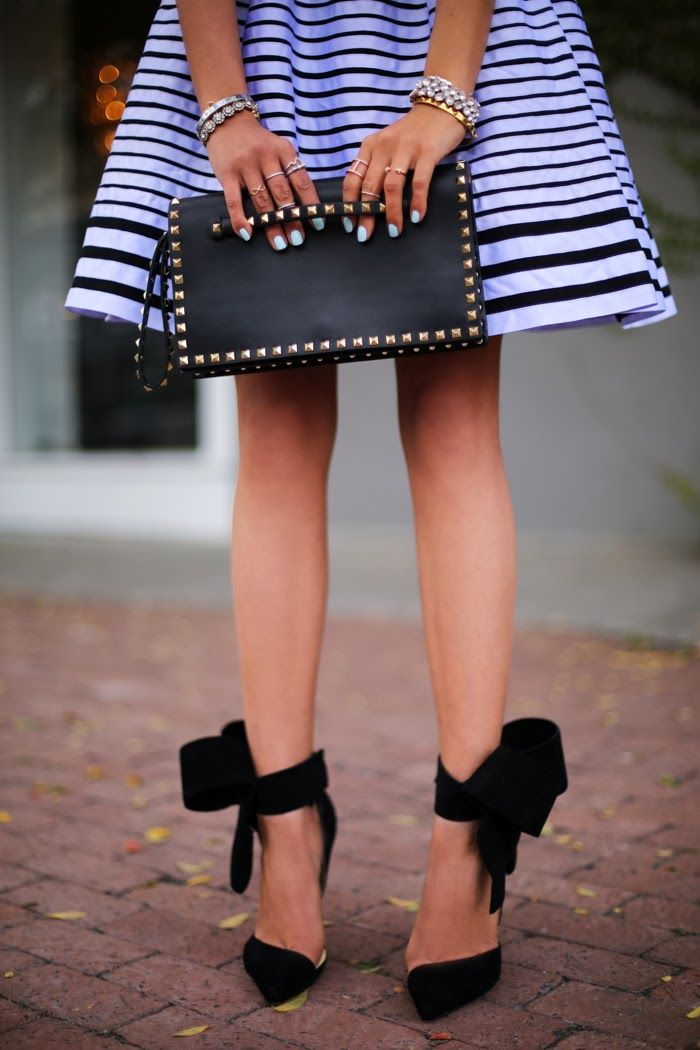 Bow Pumps Valentino Rockstud Clutch My Shoes