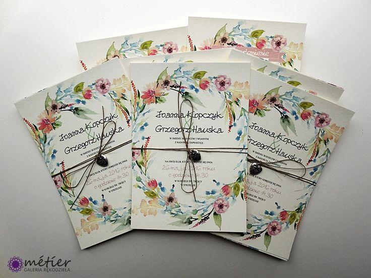 Zaproszenia ślubne www.metier.pl #weddinginvitations #zaproszenia #zaproszeniaślubne #wedding #wesele #kwiaty #kwiatowewesele #flowers #flowersweeding