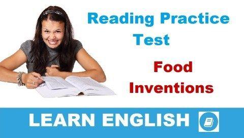 Food Inventions - Alapfokú olvasás utáni értés teszt