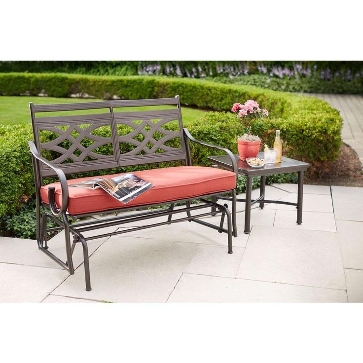 Hampton Bay Middletown Accent Patio Table-D11200-TS - The Home Depot