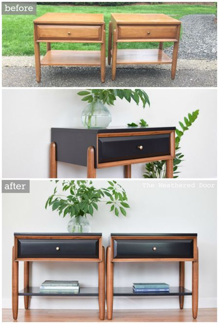 25 best ideas about furniture makeover on pinterest for Painted mid century modern furniture