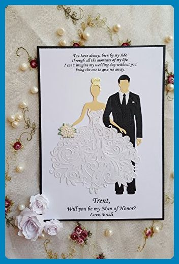 Will You be my Best Man Groomsman, Bridesmaid, Maid, Matron of Honor, Flower Girl Usher card Suit Up, Thank You, Ushers Cards Wedding Bridal Bachelor Party cards handmade, personalized, custom - Wedding party invitations (*Amazon Partner-Link)