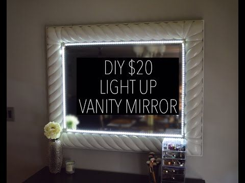 Led Bathroom Mirror Youtube best 25+ mirror with led lights ideas only on pinterest | led room