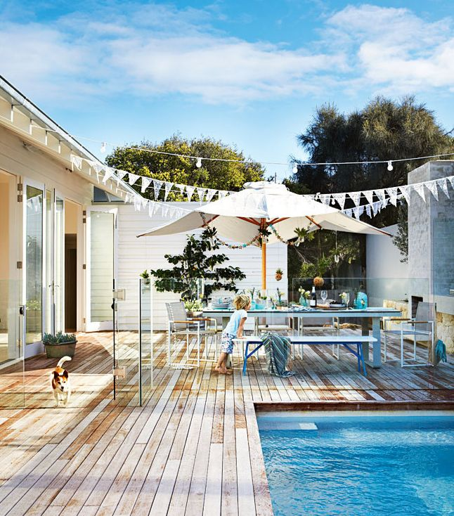 clear wall surrounding the pool