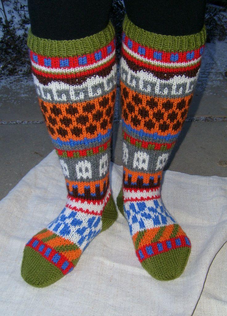 Socks gone wild. Design from Novita sukkalehti.
