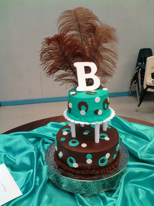 Brown And Turquoise Birthday Cake Cakes I Ve Made