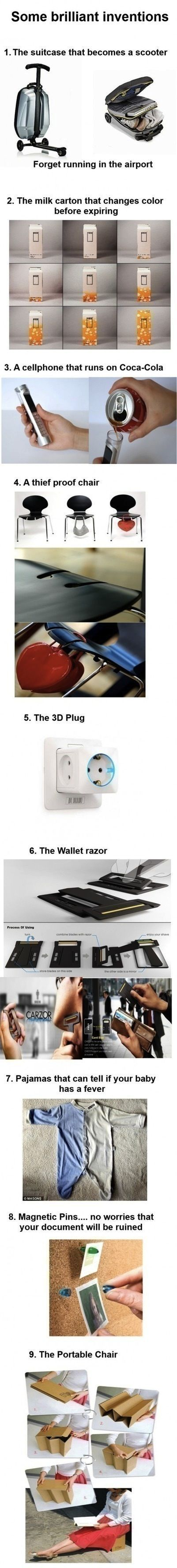 Some brilliant inventions. Ok why have i never seen any of these any where, this is great