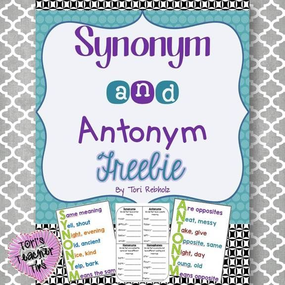 This is a great set to introduce and practice synonyms and antonyms!