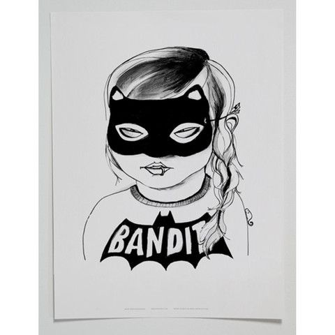 MINI AND MAXIMUS BANDIT GIRL POSTER- BLACK