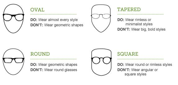 best eyeglass frames for your face type (Im round, so YAY ...
