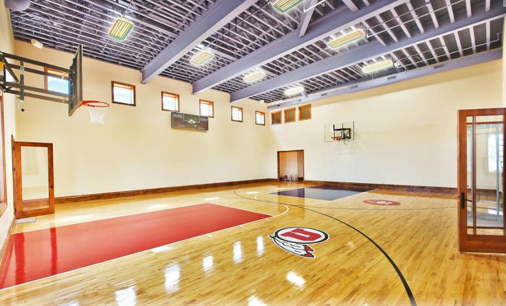 61 best indoor basketball courts images on pinterest for How many square feet is a basketball court