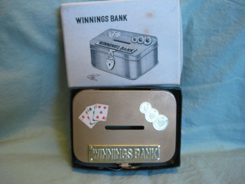 Winnings Bank with Key Lock in Box from Frederick and Nelson Store Seattle 1950 | eBay-thehouseofkrause