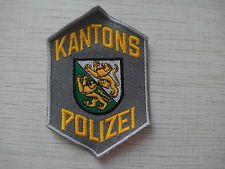 Swiss Police Patch Police Cantonale Thurgau Kantons Polizei Thurgau Switzerland
