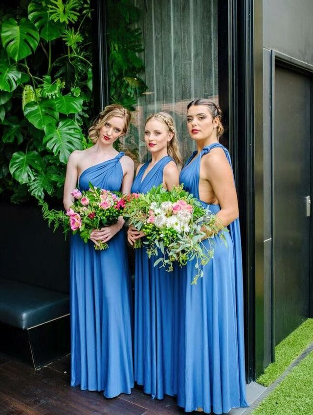 Our stunning Zeredah gown. The styles are endless. Zeredah Convertible Dresses available in Perth at Nora and Elle Bridesmaids.