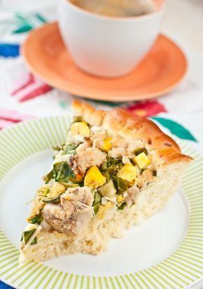 Вкусная жизнь - Рыбный пирог с яйцами и зеленым луком