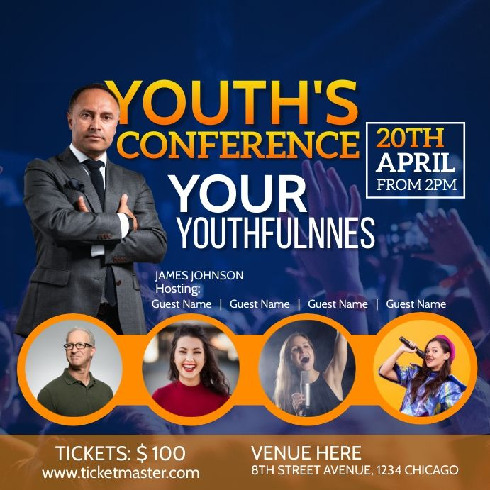 Youth Conference Flyer In 2021 Conference Poster Conference Poster Template Youth Conference
