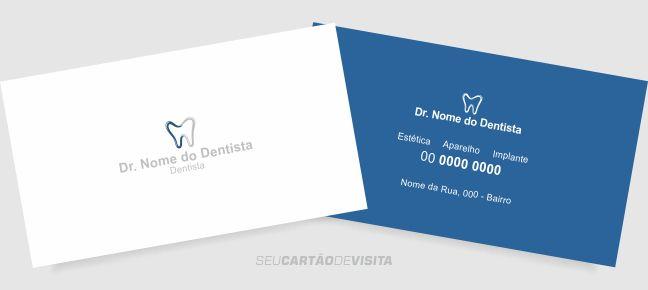 Cartão de visita dentista grátis para download