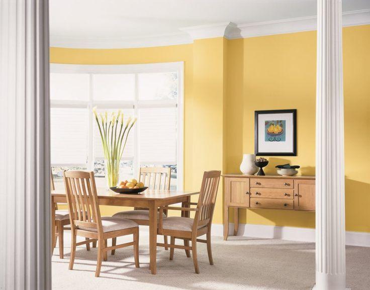 Die besten 25+ Wandgestaltung gelb Ideen auf Pinterest gelbe - wandgestaltung schlafzimmer effektvolle ideen