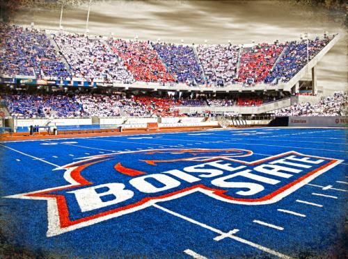 Boise State University's Bronco's stadium.