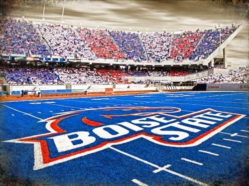 Boise State University's Bronco's stadium.