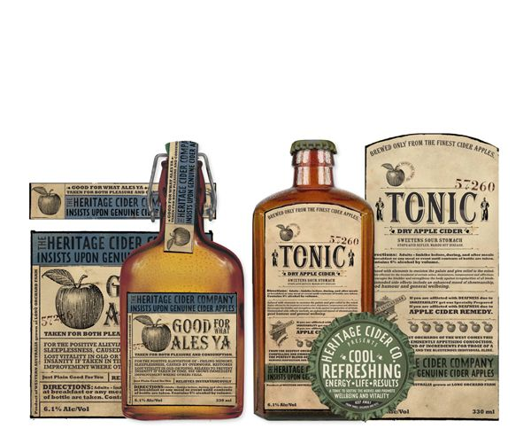 Packaging of the World: Creative Package Design Archive and Gallery: The Heritage Cider Company