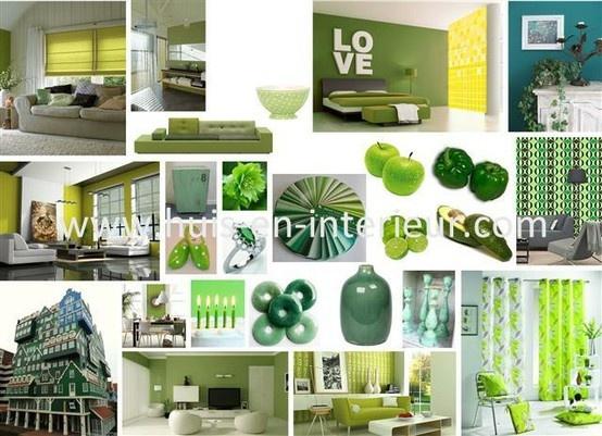Shades of green - www.huis-en-interieur.com