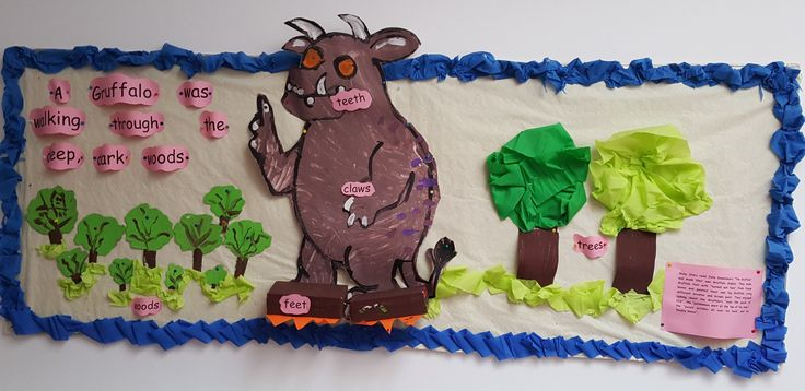 Early Years/Shiny Stars display recreating The Gruffalo story @Acorns Nursery Bucharest