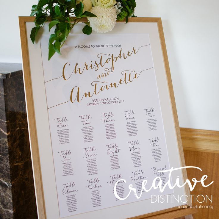 Our gorgeous ANNA seating plan! For all enquires please click on link in bio or contact us at info@creativedistinction.com.au