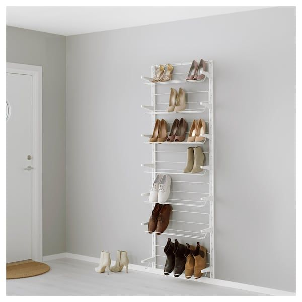 Algot Cremaillere Organiseur Chaussures Blanc Ikea Ikea Algot Ikea Rangement Chaussures