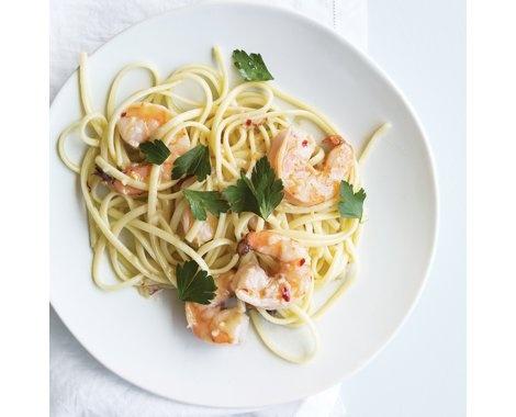 Linguine with Shrimp and White Wine Recipe   Food Recipes - Yahoo! Shine