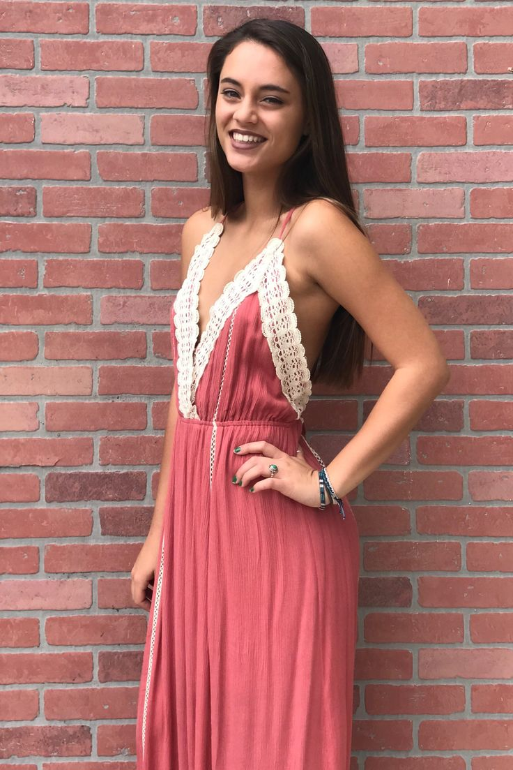 Leading Lady Maxi Dress - Coral