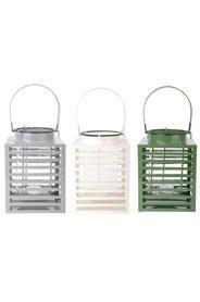 Fém lámpás három féle színben: zöld, szürke, fehér.Mérete: magasság: 20 cm, szélesség: 19 cm, mélység: 15 cmSúlya: 2,1 kg
