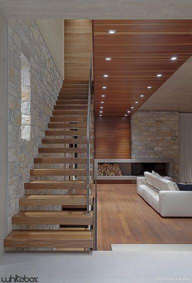 Stone House in Anavissos - Attica, Greece - 2013 - whitebox architects #staircase