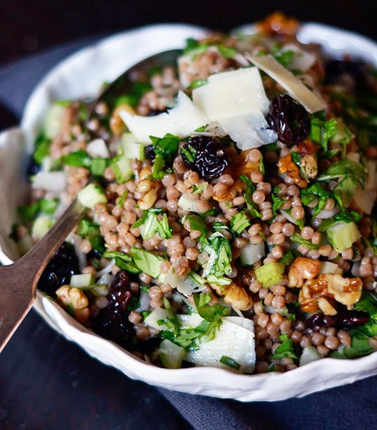 Whole Wheat Pearl Couscous with Cherries & Arugula
