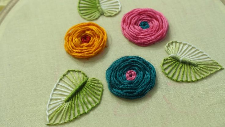 Hand Embroidery Designs | Rose flower design | Stitch and Flower-144