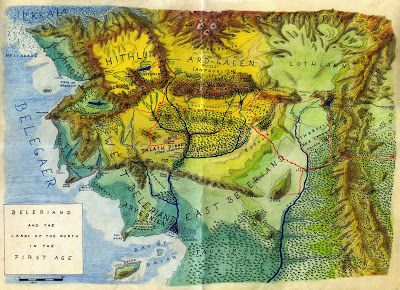 Lalaith's Middle-earth Science Pages: Topographic maps of Beleriand and Númenor