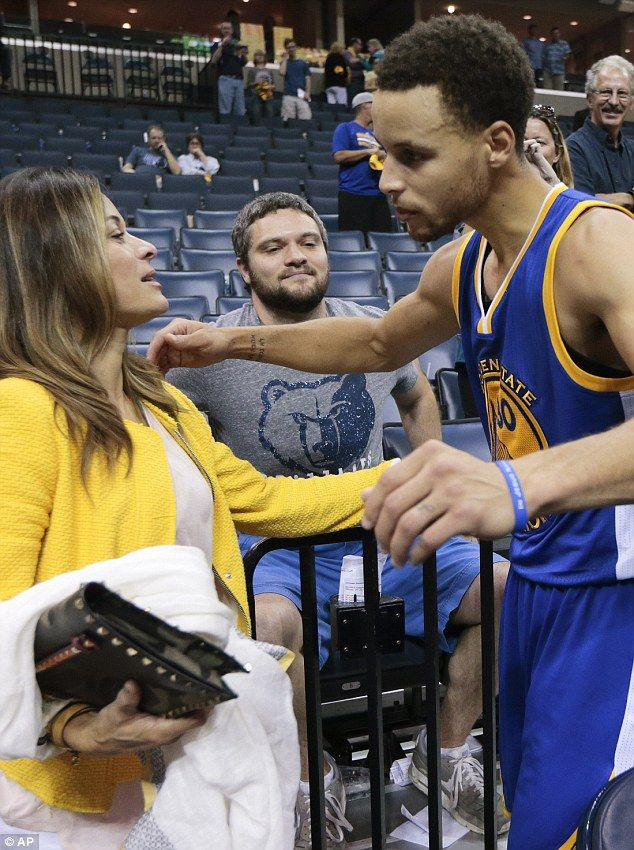 Stephen Curry's 48-year-old mother Sonya, pictured at a game last week, distracted reporte...