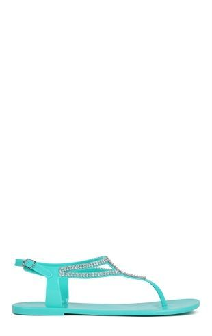 Deb Shops #Jelly #Sandal with Ankle Strap and Stone Trim $13.93