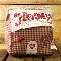 Home Doorstop ~ Red Gingham Fabric Door Stop