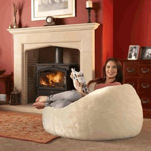 10 Images About Giant Fluffy Bean Bag On Pinterest