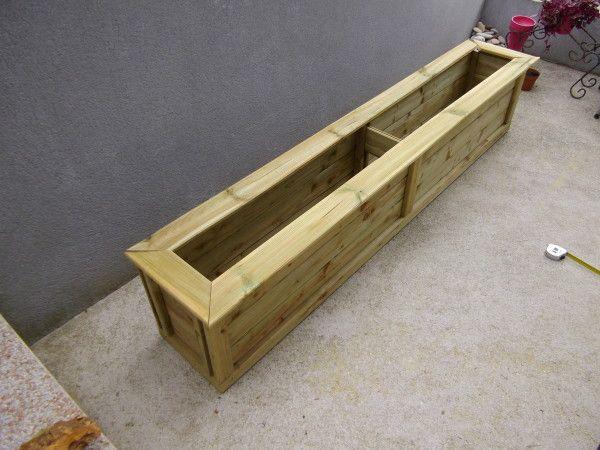 Fabrication d 39 une jardini re en bois patio yard planters Fabrication jardiniere bois exterieur