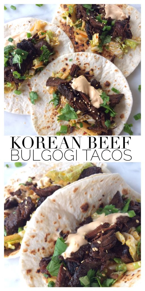 Crock Pot Korean Beef Bulgogi Tacos - Pickled & Poached