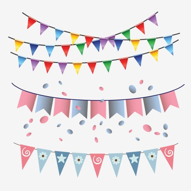 Birthday Flag Multi Color Garland Hanging Gold Illustration Frame Png And Vector With Transparent Background For Free Download Birthday Flags Unicorn Birthday Decorations Happy Birthday Font