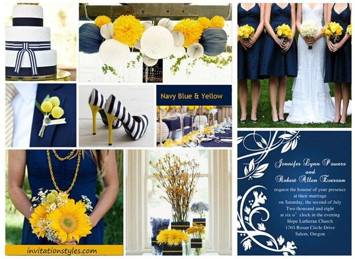 2014 Wedding Colors Trends-Navy Blue wedding inspirations