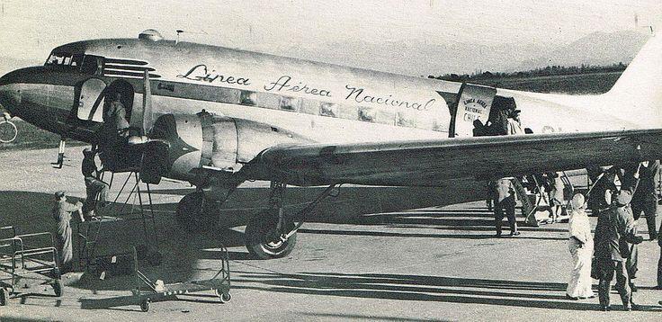 LAN en aeropuerto Cerrillos 1948.