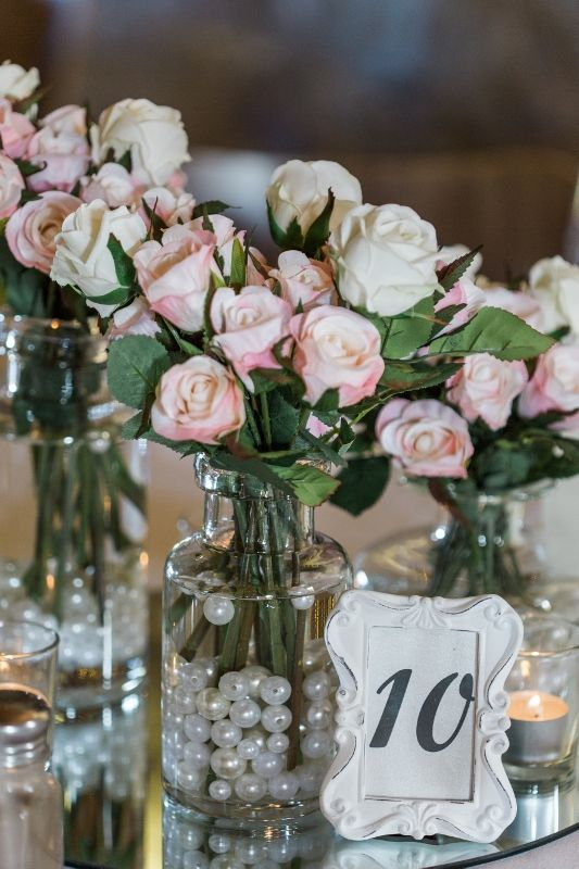 Our new table numbers with decorations by www.theeternalvase.com.au,  Photography by www.kokophotography.com.au