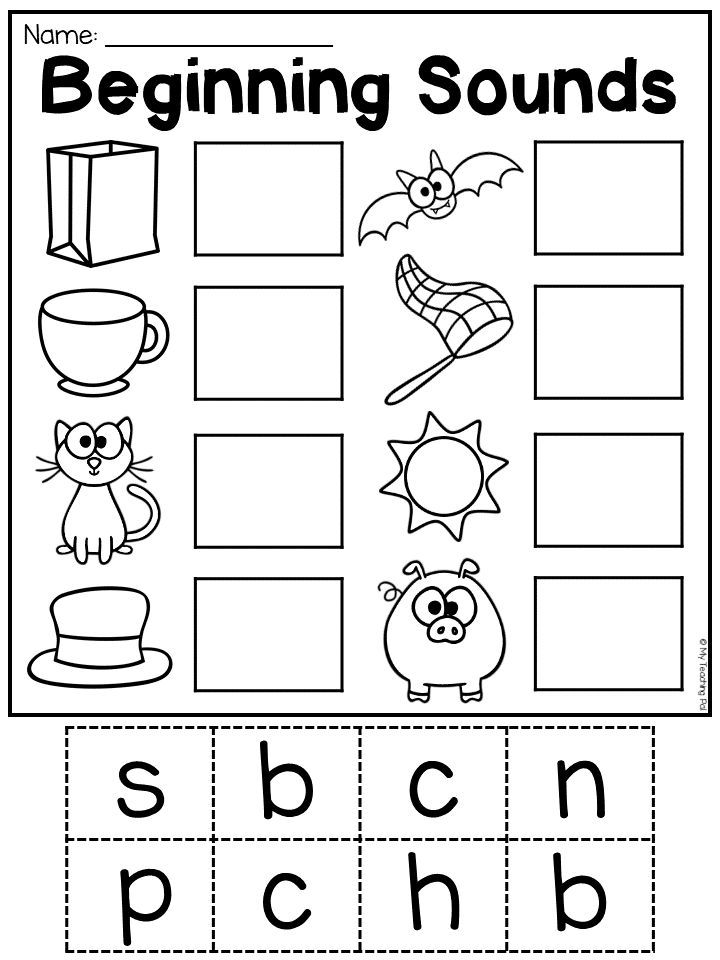 Beginning Sounds Cvc Worksheet For Kindergarten. Students Paste The Beginning  Sound To Matc… Free Preschool Worksheets, Phonics Kindergarten, Preschool  Worksheets